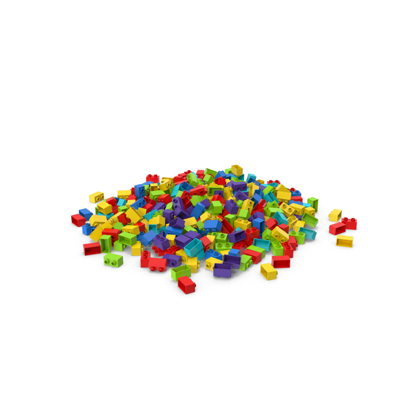 Brick Toy Pile PNG & PSD Images