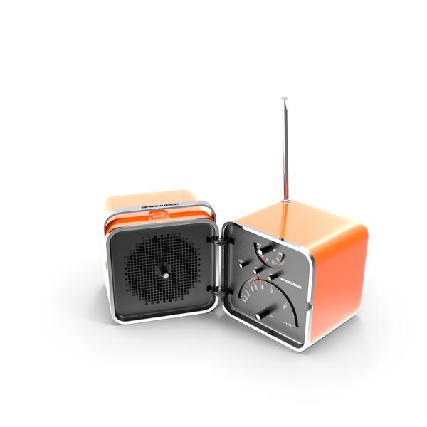 Transistor: Brionvega Cube Radio PNG & PSD Images