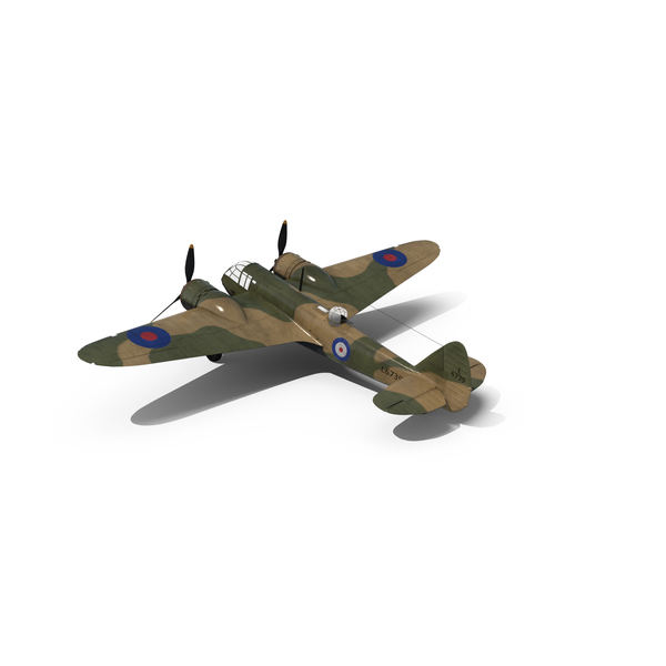 British Light Bomber Aircraft Bristol Blenheim PNG & PSD Images