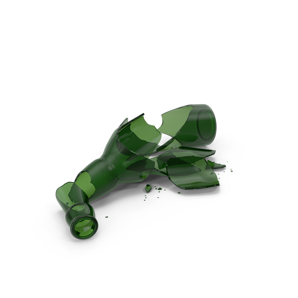 Broken Beer Bottle Object