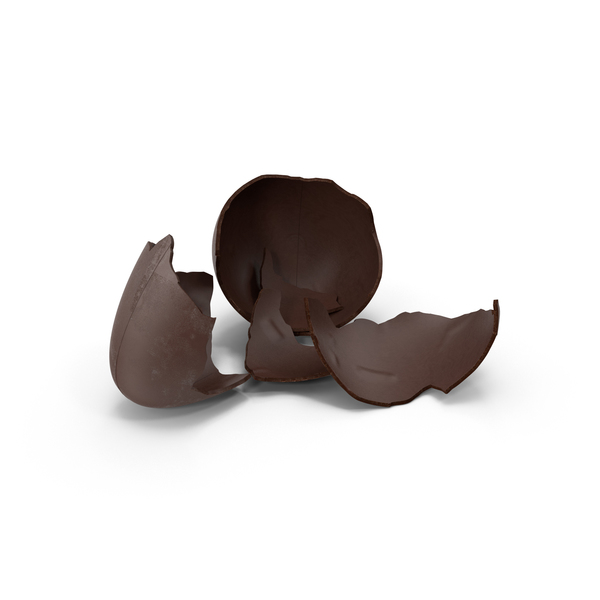 Broken Chocolate Easter Egg PNG & PSD Images