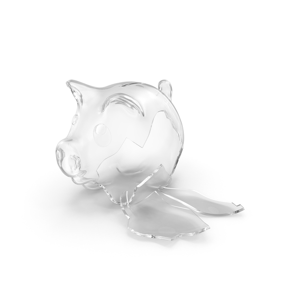 Broken Glass Piggy Bank PNG & PSD Images