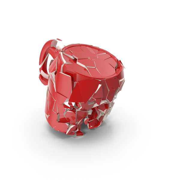 Broken Mug Red PNG & PSD Images