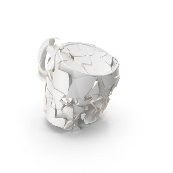Broken Mug White PNG & PSD Images