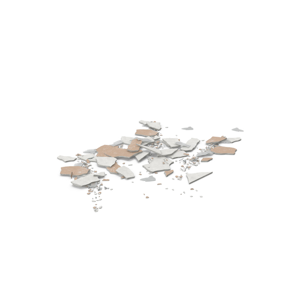 Debris: Broken Sheetrock and Glass PNG & PSD Images