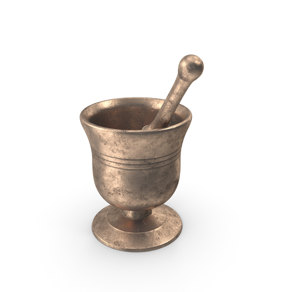 Bronze Mortar and Pestle PNG & PSD Images