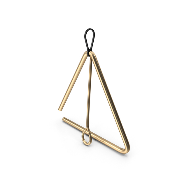 Bronze Musical Triangle PNG & PSD Images