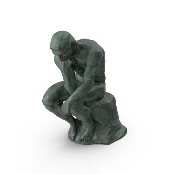 Bronze The Thinker Statue PNG & PSD Images