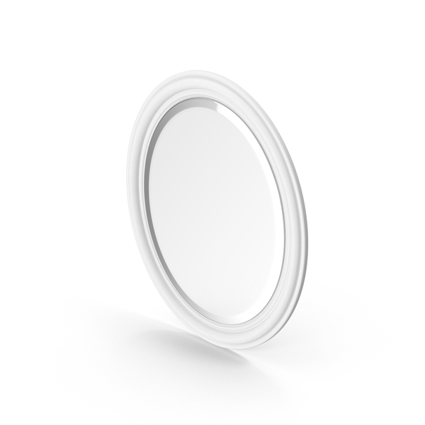 Brooks White Decorative Mirror PNG & PSD Images