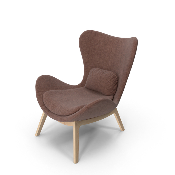 Sofa: Brown Armchair PNG & PSD Images
