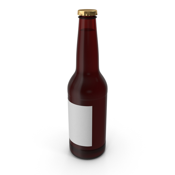 Brown Beer Bottle Object
