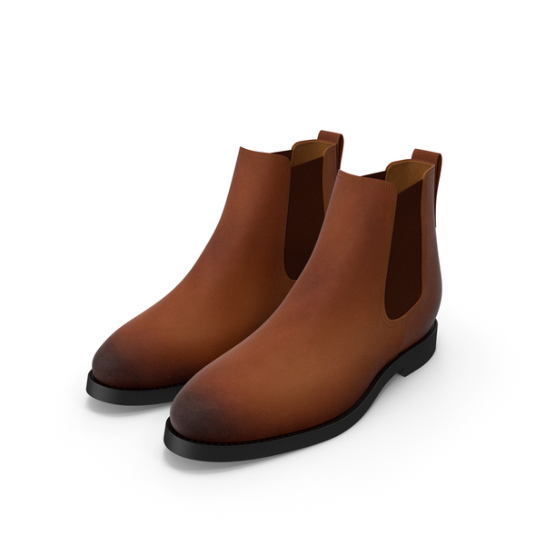 Brown Chelsea Boots PNG & PSD Images