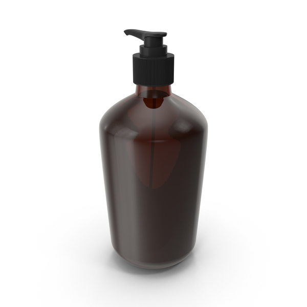 Lotion: Brown Glass Cosmetic Bottle PNG & PSD Images
