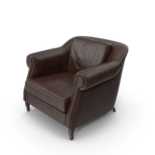 Brown Leather Lounge Club Wilson Chair PNG & PSD Images