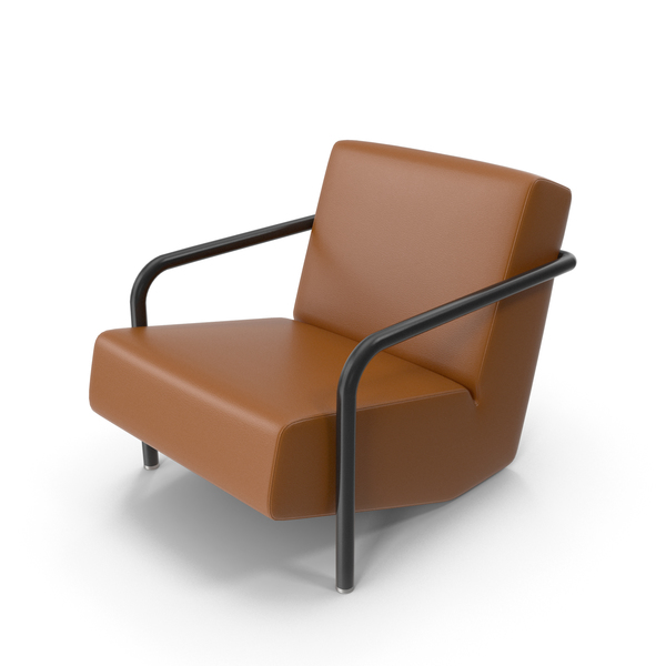 Brown Leather Porro Office Chair PNG & PSD Images