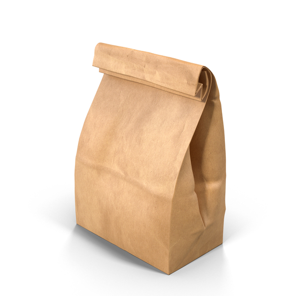 Brown Paper Lunch Bag Object
