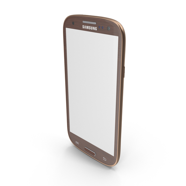Brown Samsung Galaxy S III PNG & PSD Images