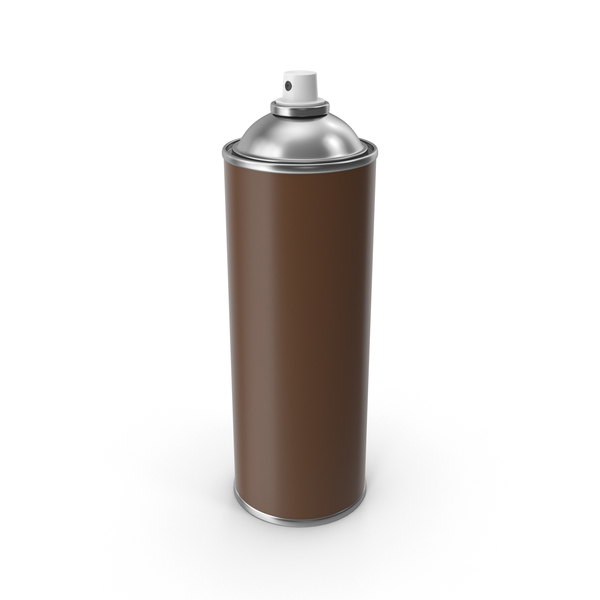 Aerosol: Brown Spray Can No Cap PNG & PSD Images