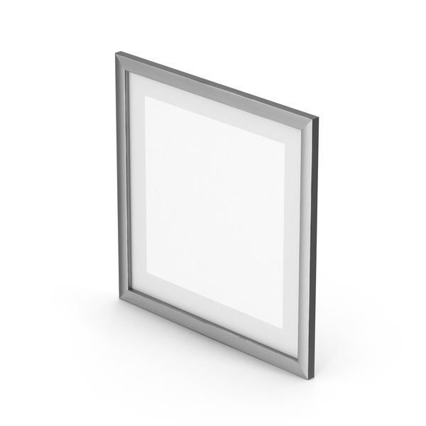 Brushed Aluminium Picture Frame PNG & PSD Images