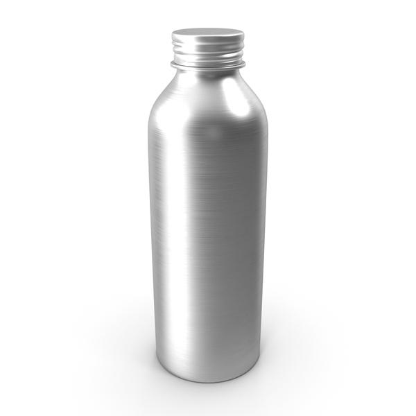 Brushed Aluminum Bottle PNG & PSD Images