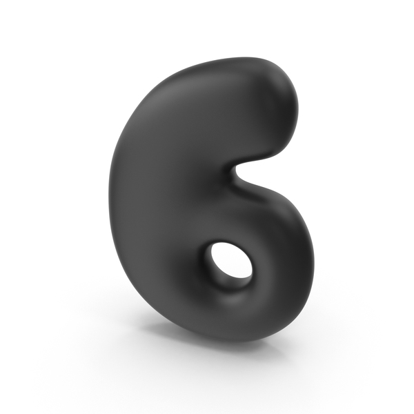 Bubble Number 6 PNG & PSD Images