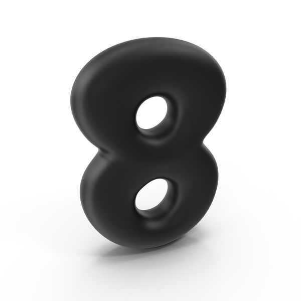 Bubble Number 8 PNG & PSD Images