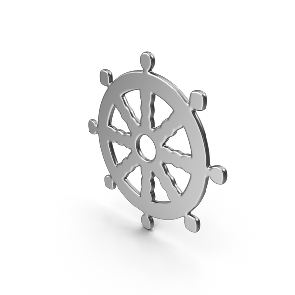 Religious Objects: Buddhism Wheel of Dharma Symbol PNG & PSD Images