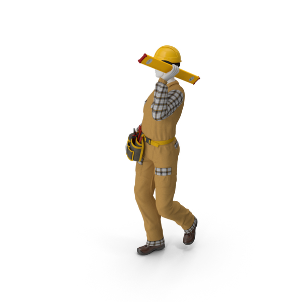 Builder Walking Pose PNG & PSD Images