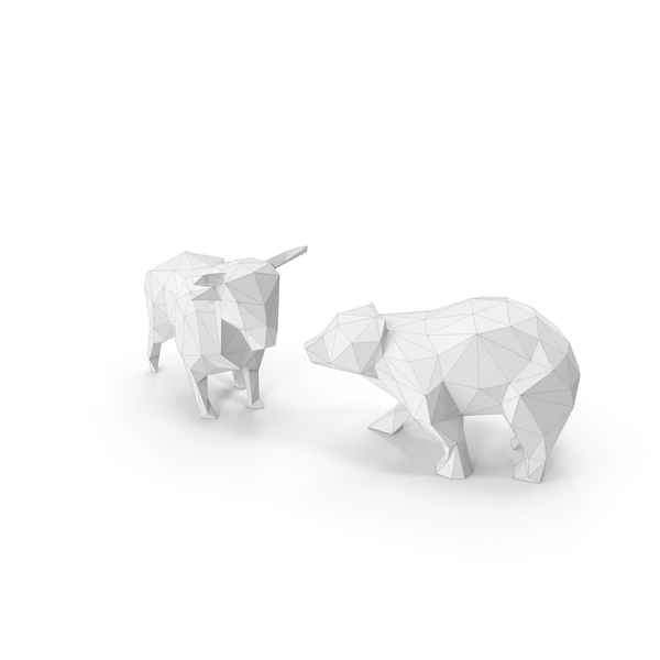 Bull & Bear Low Poly PNG & PSD Images