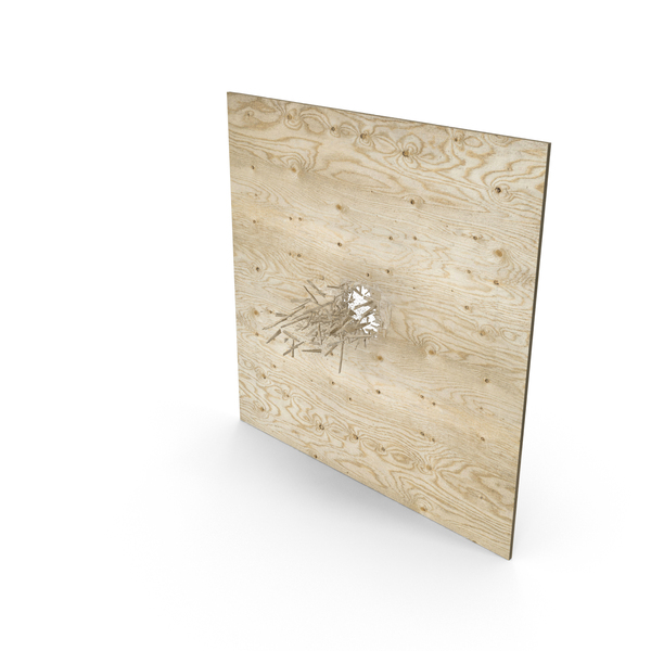 Bullet Hole Through Plywood PNG & PSD Images