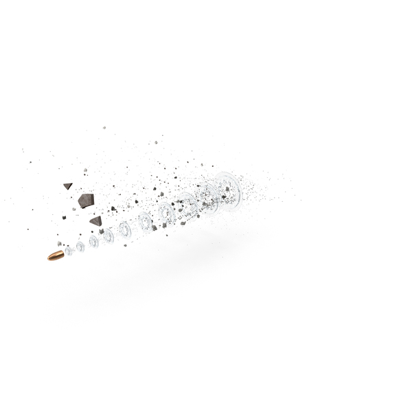 Bullet with Debris Matrix Effect PNG & PSD Images