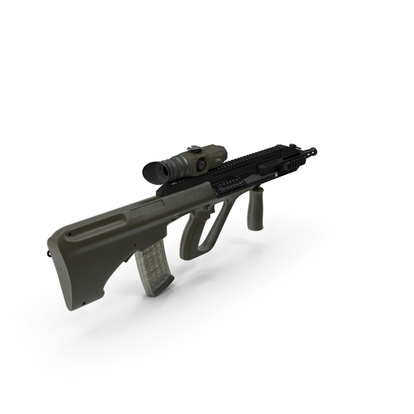 Weapons: Bullpup Steyr AUG with Thermal Scope Trijicon M300W PNG & PSD Images