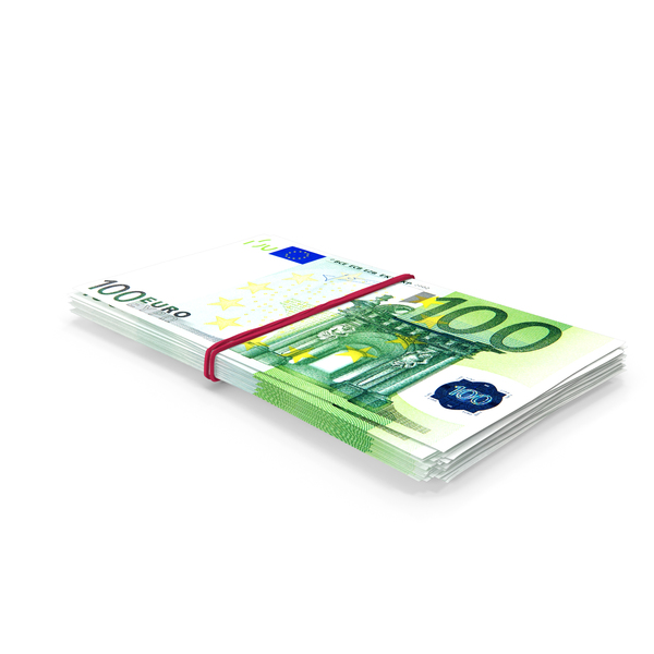 Bundle of 100 Euro Banknotes Bills PNG & PSD Images