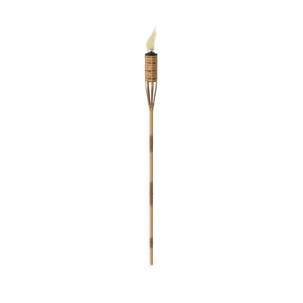 Tiki Lamp: Bungalow Torch Bamboo PNG & PSD Images