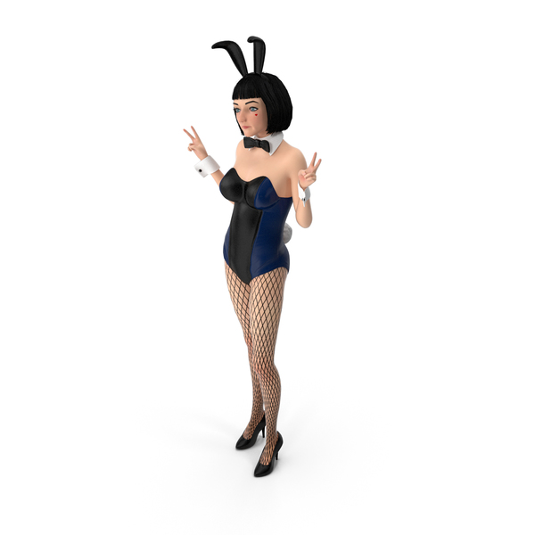 Bunny Girl Peace PNG & PSD Images