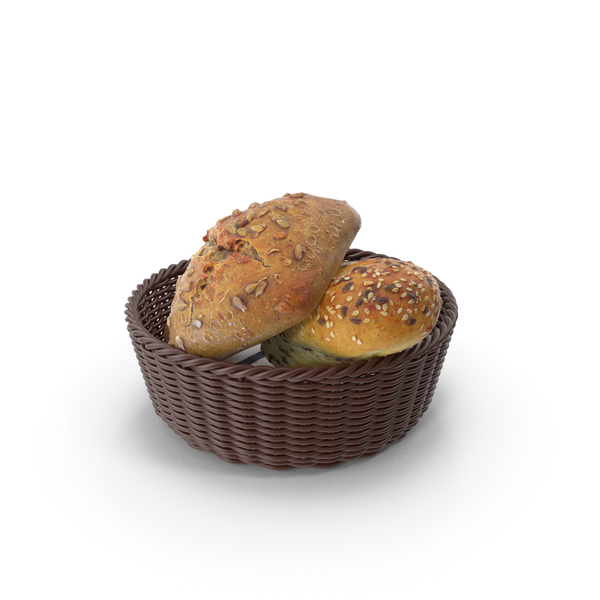 Buns in the Basket PNG & PSD Images