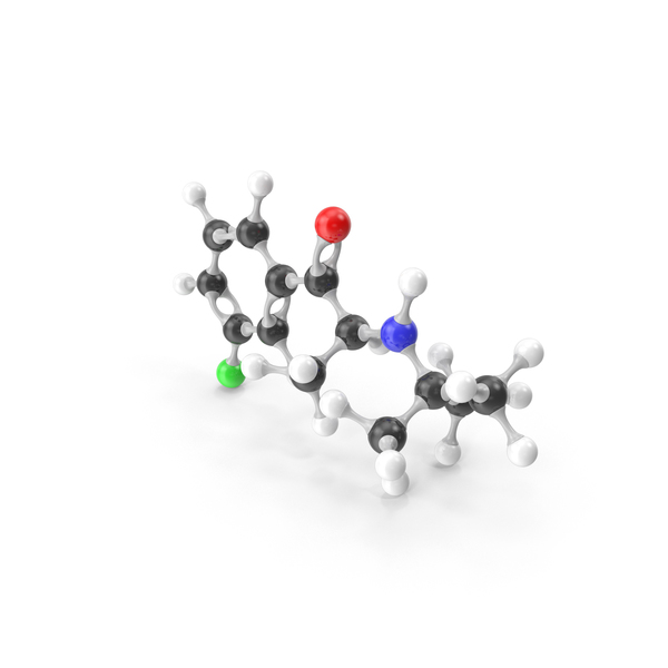 Bupropion Molecular Model PNG & PSD Images