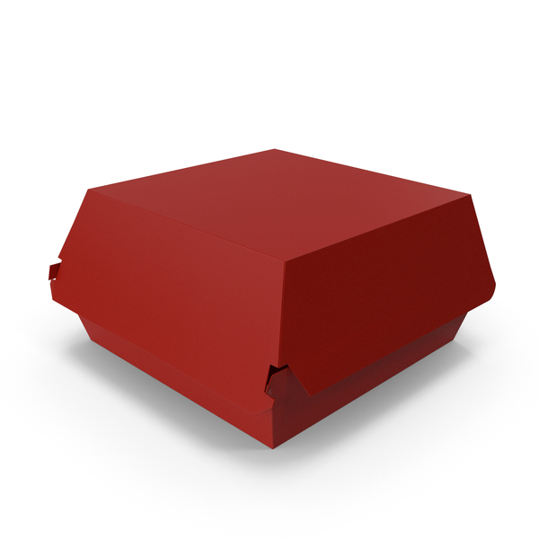 Burger Box Closed Red PNG & PSD Images