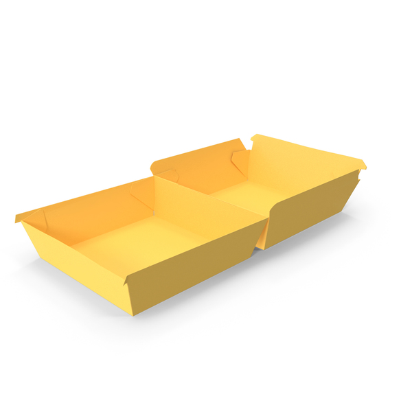 Takeaway Food Container: Burger Box Opened Paper PNG & PSD Images
