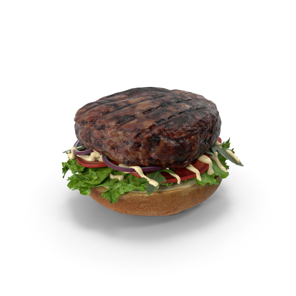 Burger Open No Cheese PNG & PSD Images