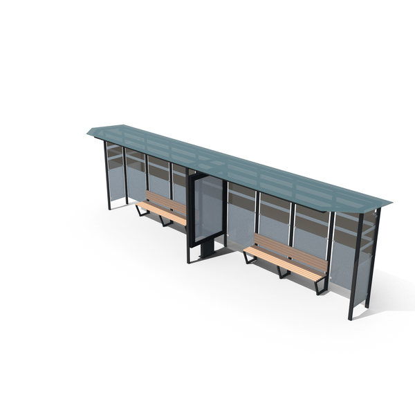 Enclosure: Bus Stop Station PNG & PSD Images