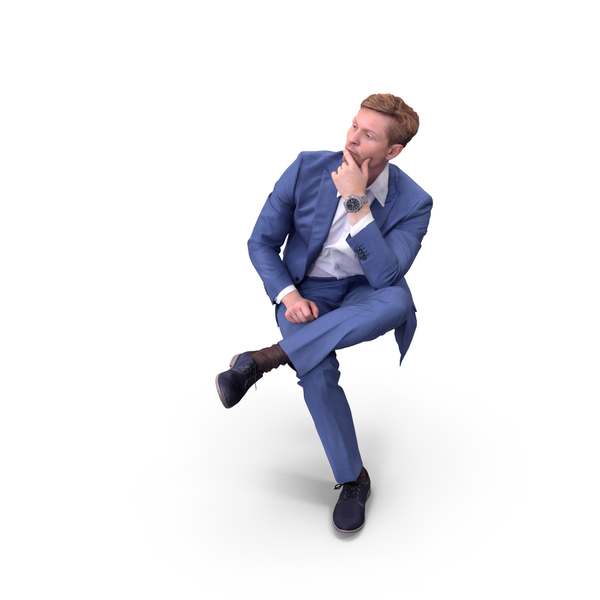 Business Man Sitting PNG & PSD Images