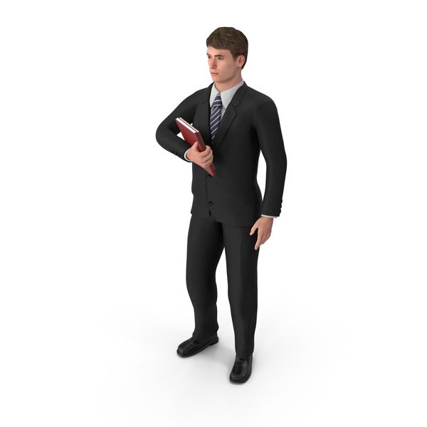 Businessman John Holding Books PNG & PSD Images