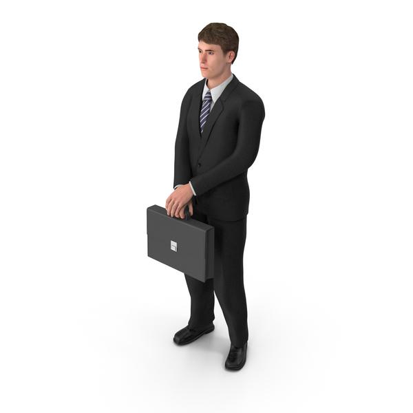 Businessman John Holding Briefcase PNG & PSD Images