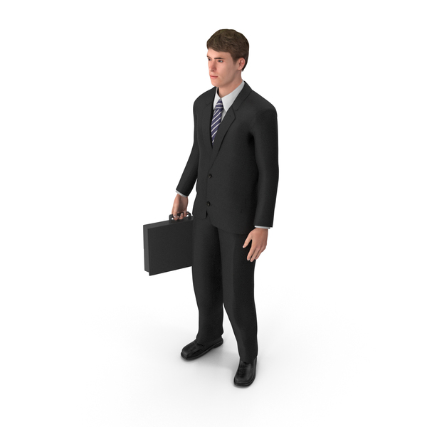 Businessman John Holding Briefcase PNG & PSD Images