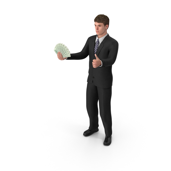 Businessman John Holding Cash PNG & PSD Images