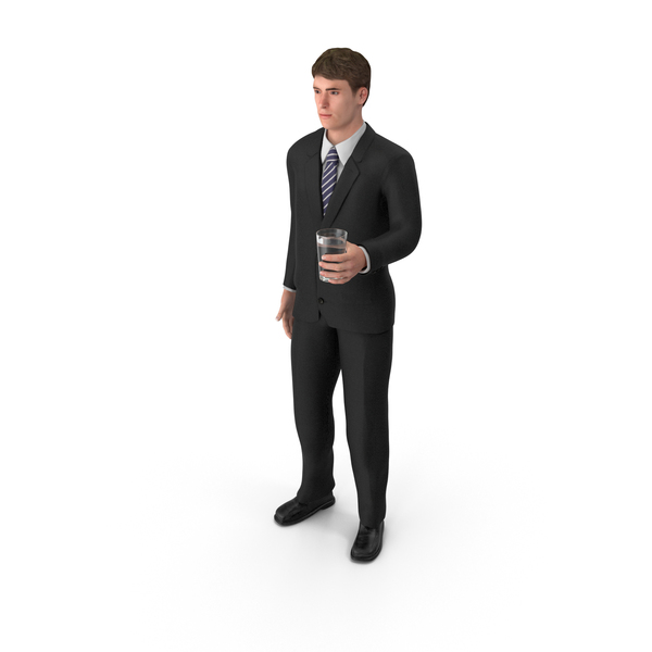 Businessman John Holding Drink PNG & PSD Images