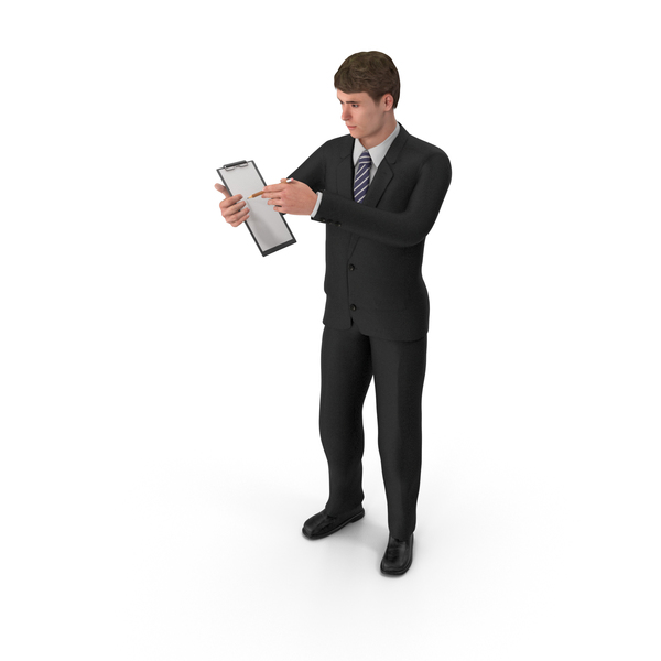 Businessman John Holding Notepad PNG & PSD Images
