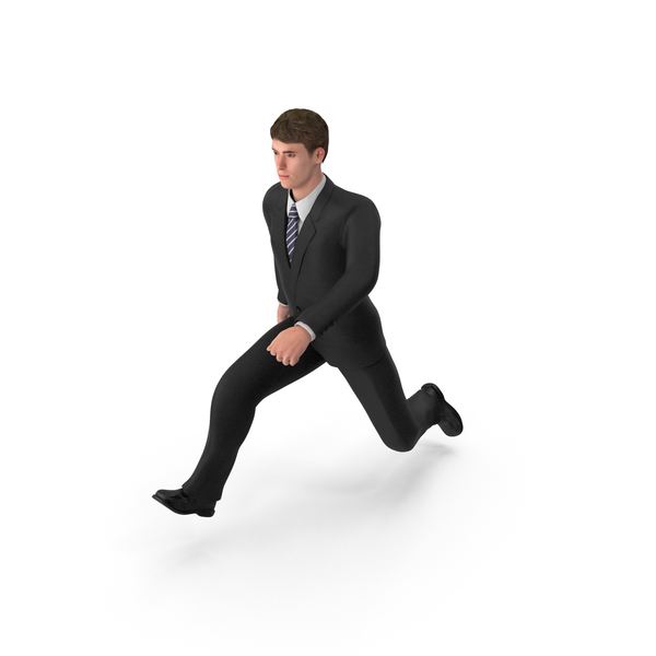 Businessman John Jumping PNG & PSD Images