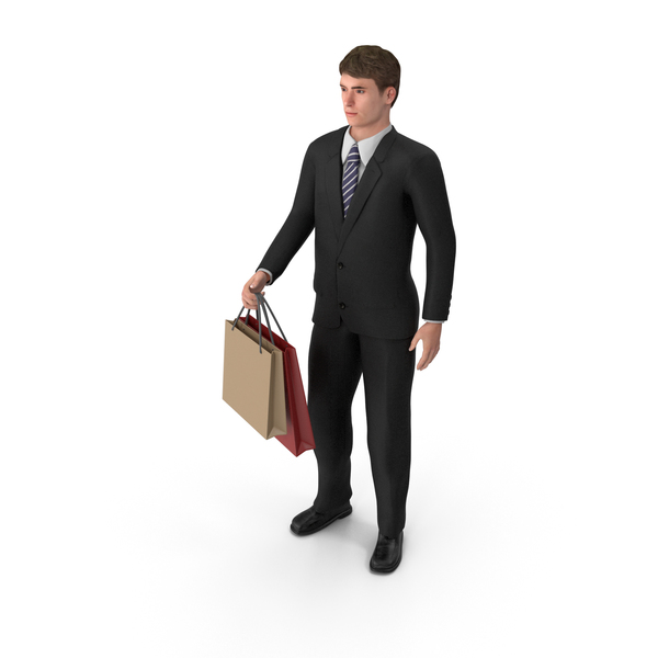 Businessman John Shopping PNG & PSD Images
